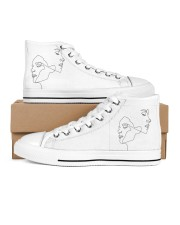 opposite attraction Women's High Top White Shoes outside-right-inside-right