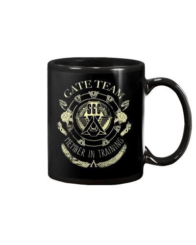 Gate Team SGC member in training mug