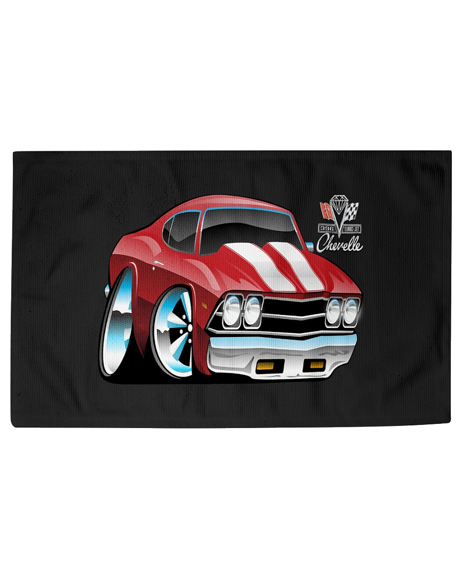American 1969 Popular Soup Up Muscle Car  Woven Rug - 6' x 4'