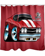 American 1969 Popular Soup Up Muscle Car  Shower Curtain thumbnail