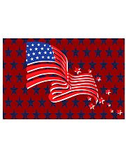 The American Flag With Stars BackGround 17x11 Poster thumbnail
