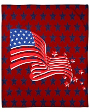 """The American Flag With Stars BackGround Fleece Blanket - 50"""" x 60"""" thumbnail"""
