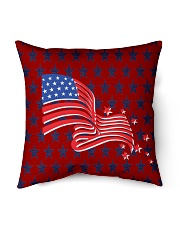 """The American Flag With Stars BackGround Indoor Pillow - 16"""" x 16"""" thumbnail"""