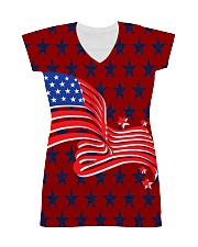 The American Flag With Stars BackGround All-over Dress thumbnail