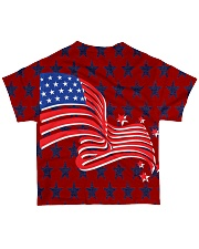 The American Flag With Stars BackGround All-over T-Shirt back