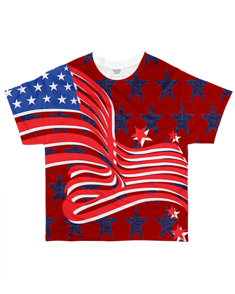 The American Flag With Stars BackGround All-over T-Shirt
