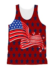 The American Flag With Stars BackGround All-over Unisex Tank thumbnail