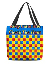 KEEP CALM AND CHECK THE FLOOR For Legos All-over Tote thumbnail