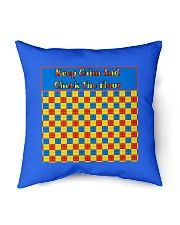 "KEEP CALM AND CHECK THE FLOOR For Legos Indoor Pillow - 16"" x 16"" thumbnail"