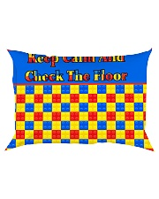 KEEP CALM AND CHECK THE FLOOR For Legos Rectangular Pillowcase thumbnail