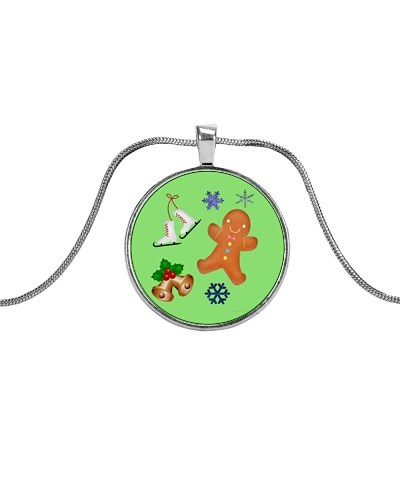 Christmas Gingerbread Man Skates Bells Jewelry