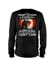 I'm A Grumpy Veteran - I Love My Family Long Sleeve Tee thumbnail