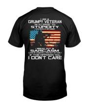 I'm A Grumpy Veteran - I Love My Country Classic T-Shirt back