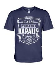 KARALIS - Handle It V-Neck T-Shirt thumbnail