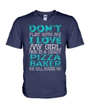 Pizza Baker V-Neck T-Shirt thumbnail