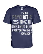 Ski Instructor V-Neck T-Shirt thumbnail