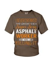 Asphalt Worker Youth T-Shirt thumbnail