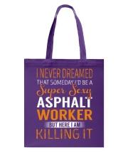 Asphalt Worker Tote Bag thumbnail