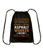Asphalt Worker Drawstring Bag thumbnail