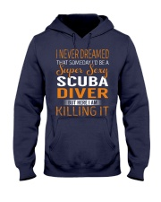 Scuba Diver Hooded Sweatshirt thumbnail