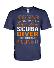 Scuba Diver V-Neck T-Shirt tile