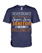 Janitor V-Neck T-Shirt thumbnail