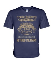 Retired Military V-Neck T-Shirt thumbnail