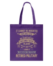 Retired Military Tote Bag thumbnail
