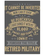 Retired Military 11x17 Poster thumbnail