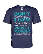 Project Manager V-Neck T-Shirt thumbnail