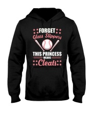 Softball Cleats Princess Softball Girls Hooded Sweatshirt thumbnail