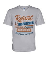 Retired:Like regular Dispatcher only way happier V-Neck T-Shirt thumbnail