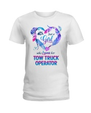 Just a Girl who loves her Tow Truck Operator Ladies T-Shirt thumbnail