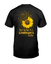 Love my llife as a Lineman's wife  Classic T-Shirt back