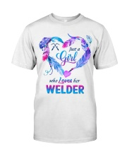Just a Girl who Loves her Welder Classic T-Shirt thumbnail