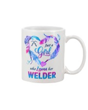 Just a Girl who Loves her Welder Mug tile