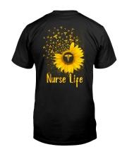 Sunflower Nurse Classic T-Shirt back