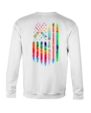 Maintenance Technician's Wife Tie Dye US Flag Crewneck Sweatshirt thumbnail