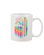 Maintenance Technician's Wife Tie Dye US Flag Mug thumbnail