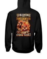 Firefighter: Warning for Stupid People Hooded Sweatshirt thumbnail