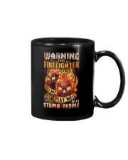 Firefighter: Warning for Stupid People Mug thumbnail
