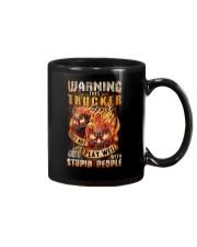 Trucker: Warning for Stupid People Mug thumbnail