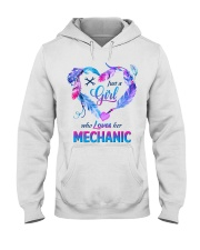 Just a Girl who Loves her Mechanic Hooded Sweatshirt thumbnail
