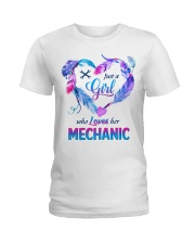 Just a Girl who Loves her Mechanic Ladies T-Shirt front