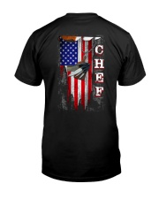 Proud American Chef Flag Classic T-Shirt back