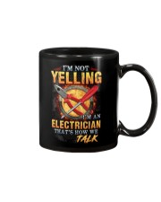 I am not yelling that's how Electrician's talk Mug tile