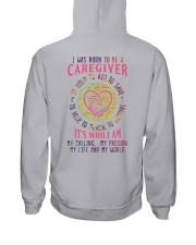 I was born to be a Caregiver Hooded Sweatshirt thumbnail