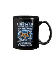 I own the title Lineman forever Mug tile