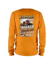 Trucker: I don't play well with stupid people Long Sleeve Tee thumbnail