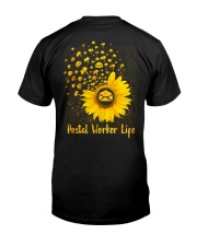 Sunflower Postal Worker Classic T-Shirt back